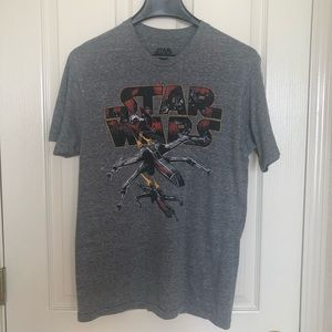 Star Wars Grey Men's T-Shirt Sz M